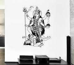 Wall Decal Shiva India God Krishna Brahma Murder Mural Vinyl Stickers Ed024 Ebay