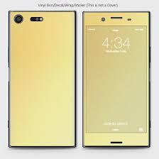 Matte Material Vinyl Phone Skin For Sony Xperia Xz Premium Lite Gold Ordernation