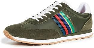 Amazon.com | PS Paul Smith Men's Prince Sneakers, Khaki, Green, Stripe, 7  Medium US | Fashion Sneakers