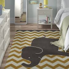 Viv Rae Brynn Lucky Elephant Yellow Kids Rug Reviews Wayfair