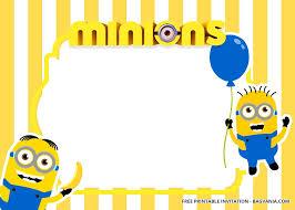 Free Printable Minions Birthday Invitation Templates Updated