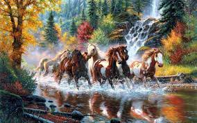 horse painting wallpapers top free
