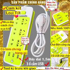 Shop bán Ổ Cắm Điện Đa Năng Thông Minh Có Cổng USB | Ổ Điện 6 Lỗ Và 3 Cổng  Sạc USB | Ổ cắm điện đa năng thông minh Xanh Lá
