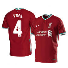 Virgil van Dijk Liverpool Home Jersey ...