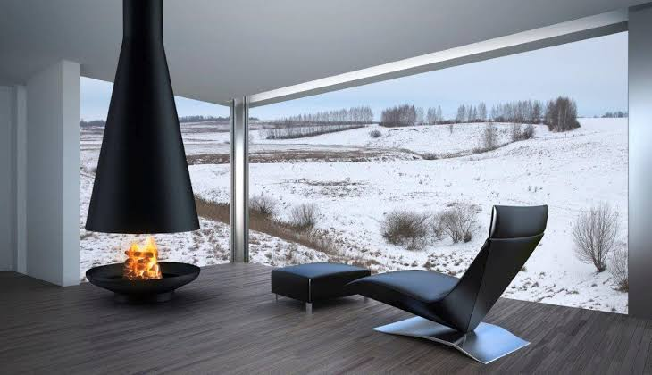 Suspended Fireplaces Are Space Saving Architectural Beauties