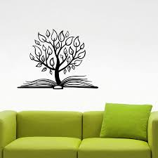Tree Book Wall Sticker Library Learn Education Vinyl Decal Home Interior Decorations Study School Kids Room Classroom Decor Flower Wall Stickers Flowers Wall Stickers From Onlinegame 12 66 Dhgate Com