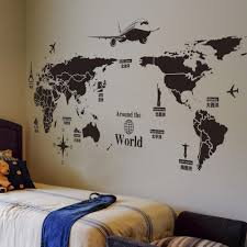 New Creative World Travel Map Wall Stickers Black Printed Sticker Bedroom Home Decor Poster Diy Removable Wall Decal Wallpaper Decals Stickers Wallpaper Sticker From Chairdesk 8 02 Dhgate Com