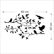 Online Shop Removable Black Tree Branches Wall Decal With Birds Vinyl Sticker Nursery Leaves Aliexpress Mobile