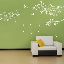 Fashion White Tree Branches Birds Leaves Home Wall Stickers Living Room Decals Background Garden Window Decor White Tree Wall Sticker Living Roomtree Branch Aliexpress