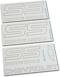 Amazon Com Monte Carlo Chevy Ss 1987 1988 Restoration Red Vinyl Decals Stickers Kit Automotive