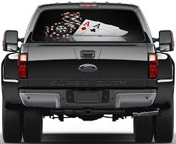 Poker Texas Hold Em Cards Chips Car Rear Window See Through Net Decal Decalz Co