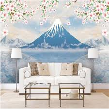 Custom Size 3d Wallpaper Photo Wallpaper Living Room Kids Room Mural Cherry Blossom Mount Fuji 3d Picture Sofa Tv Backdrop Wallpaper Sticker High Quality Wallpapers High Quality Wallpapers Free Download From Wnfq3188
