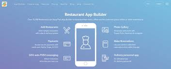 restaurant app builder how to create