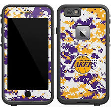 Amazon Com Skinit Decal Skin For Lifeproof Fre Iphone 6 6s Plus Officially Licensed Nba Los Angeles Lakers Digi Camo Design Industrial Scientific