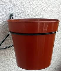 Fence Hooks Holders Rings To Hang 7 Pots On Fences In Green Pvc 12 Plant Pot