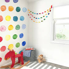 Large Watercolor Rainbow Polka Dot Wall Decals Project Nursery
