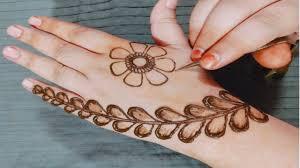 simple mehndi design easy back hand