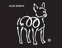 Raining Cats And Dogs Boston Terrier K Lines Window Tattoo