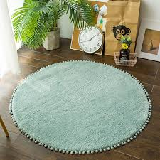 Nordic Round Rug Carpets For Living Room Pink Rugs Girls Kids Room Round Rugs For Bedroom Modern Computer Chair Mat Study Room Carpet Aliexpress