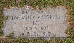 Iva Bailey Marshall (1903-1992) - Find A Grave Memorial