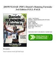 pdf daniel 039 s running