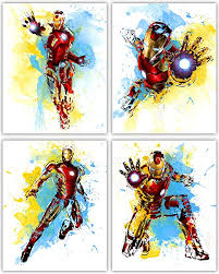 Amazon Com Iron Man Wall Decor Collection The Great Marvel Avenger In Our Wall Art Movie Poster Series Set Of 4 8x10 Photos Posters Prints