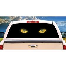Cat Eyes Rear Window Graphic Truck View Thru Vinyl Decal Back Walmart Com Walmart Com