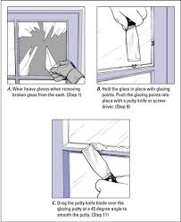 replacing a broken window pane