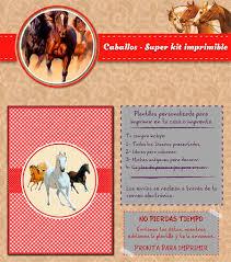 Kit Imprimible Caballos Personalizado Candy Bar Cumpleanos 600
