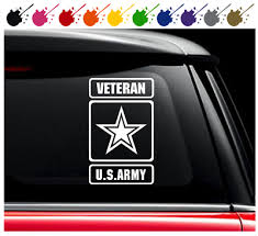 Us Army Veteran Vinyl Decal Car Truck Window Sticker Military Logo Ebay