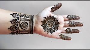 mehndi design easy front hand