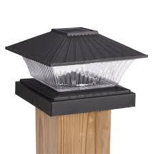 2 X Solar Power Path Deck Post Cap Light Fence Mount Lamp White 4x4