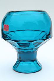 vintage viking bluenique aqua blue art