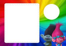 Trolls Invitaciones Para Imprimir Gratis Ideas Y Material
