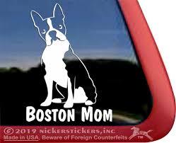 Boston Terrier Window Decal Nickerstickers