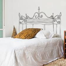 Wall Decal Headboards Headboard Decal Headboards For Beds Headboard Wall Decal