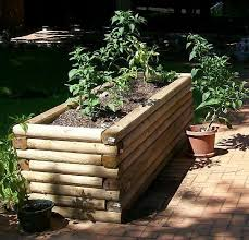 landscape timbers for garden decoration