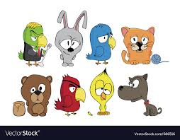 funny cartoon characters royalty free