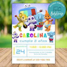Invitacion De Cumpleanos De Word Party Imprimible Descarga