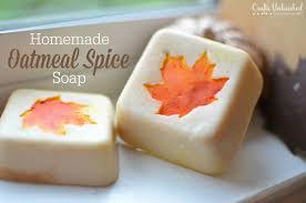oatmeal e painted leaf soap