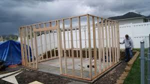 existing concrete slab tuff shed