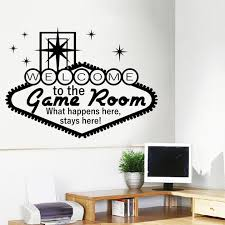 Welcome To The Game Room Decor Casino Wall Art Decals Gambling Vinyl Sticker Ebay