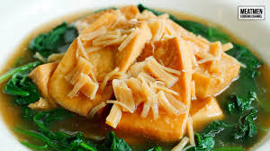 Braised tofu with dried scallop in ...