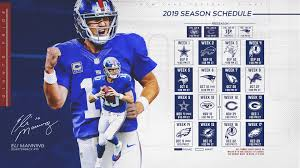 giants schedule new york giants