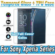Xz Xa Tempered Glass Film For Sony Xperia Xz Xa X Compact Performance E5 Z5 Z4 Z3 Z2 Z1 Z M5 M4 Ultra Thin Tpu Soft Silicon Case In Phone Bags Cases