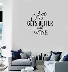 Vinyl Decal Wall Sticker Decor For Kitchen Wine Quote Words Dinner Room G136 Ebay