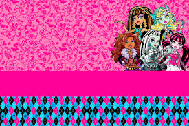 Monster High Imprimibles E Invitaciones Para Imprimir Gratis