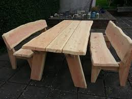 rustic garden table warm 2 wood