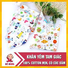 Set 10 Khăn Yếm Tam Giác 100% cotton mềm mịn ,Đồ sơ sinh mẹ và bé ...