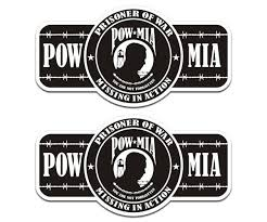 Buy Prisoner Of War Pow Mia Decal Set 6 X3 1 Memorial Vinyl Sticker Pm3 U5ab Motorcycle In Sticker City Ca For Us 8 95